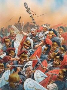 Peter-Dennis-Csar-en-la-batalla-de-Munda