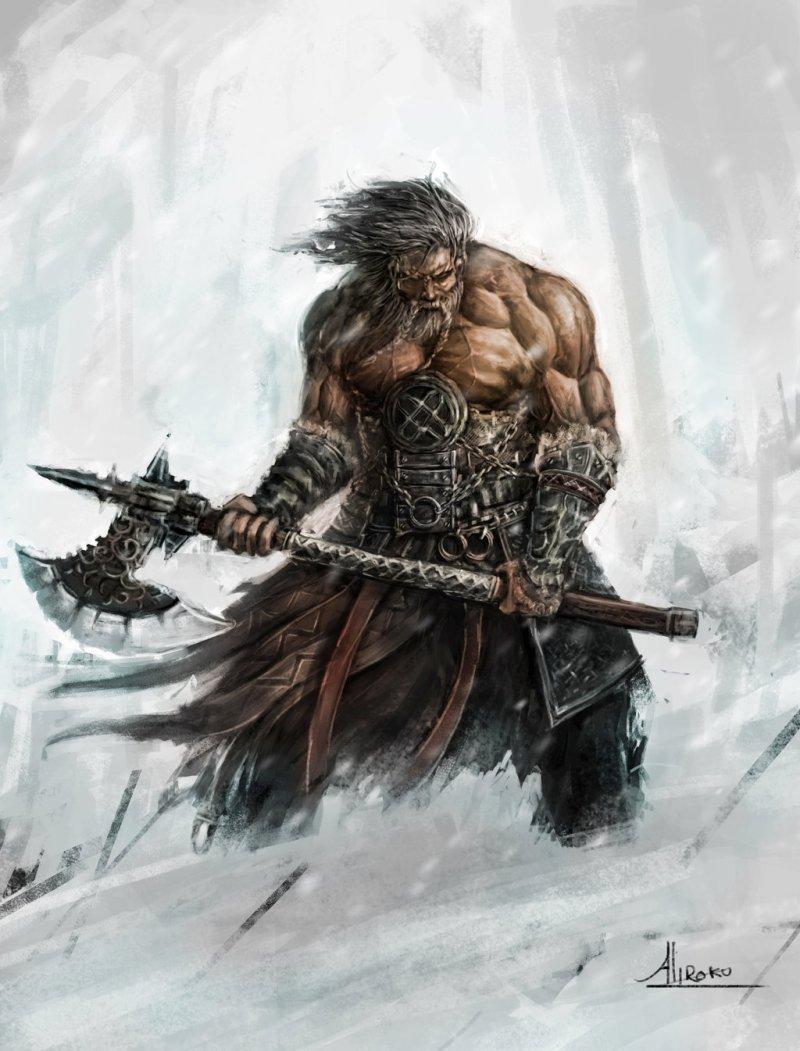 drawn-warrior-battle-axe-7