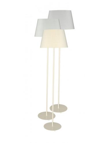 fornord lampe sur pied h 149 cm abat jour 3 couleurs vert clair gris clair creme