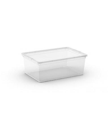 kis boite de rangement plastique c box s transparent 26 x 37 x 14 cm 11l