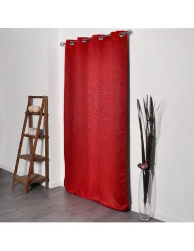 decostars rideau occultant 8 œillets 140 x 240 cm rouge