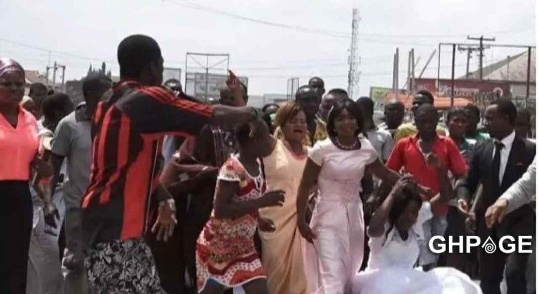 Lady goes mad on wedding day