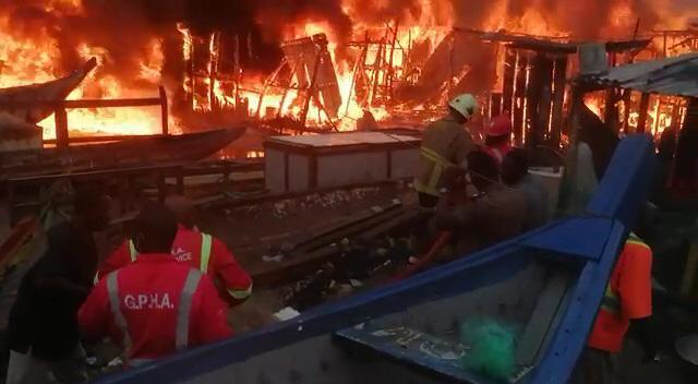 Fire ravages Sekondi fishing bay