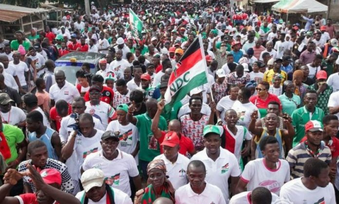 Six attacked with machete as confusion breaks out at NDC rally [Photos]