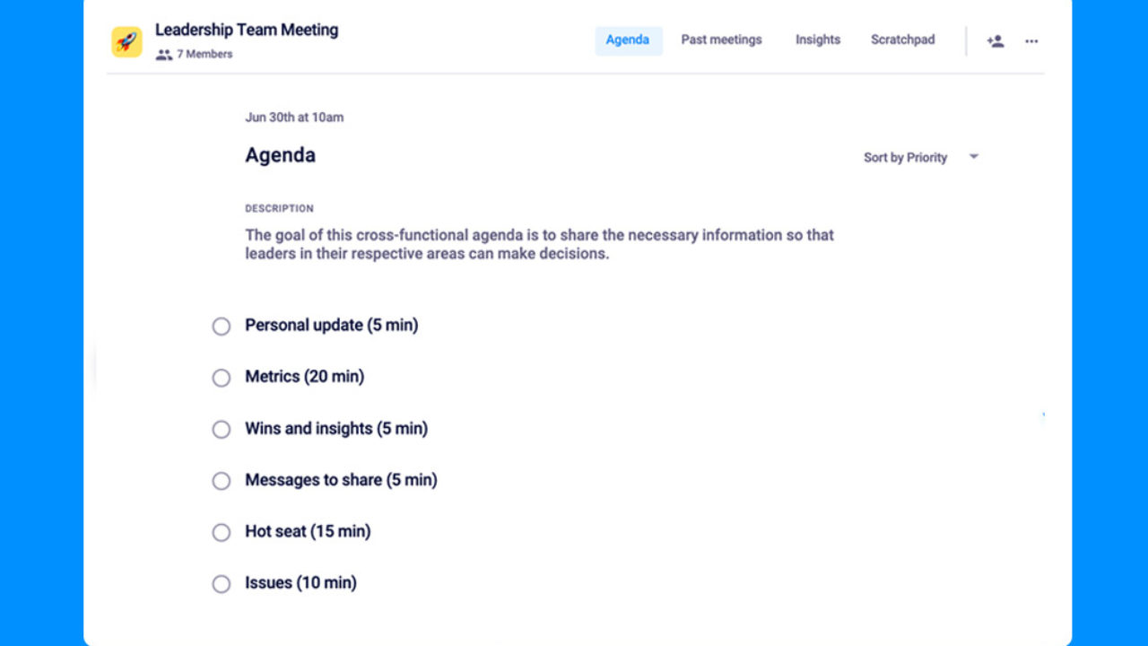 Overview of all products overview of hubspot's free tools marketing aut. 6 Items For Your Leadership Team Meeting Agenda