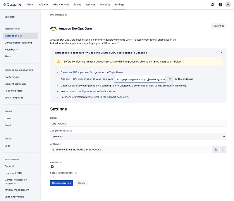 delivering operational insights directly to your on call team by integrating amazon devops guru with atlassian opsgenie 2 hyperedge embed
