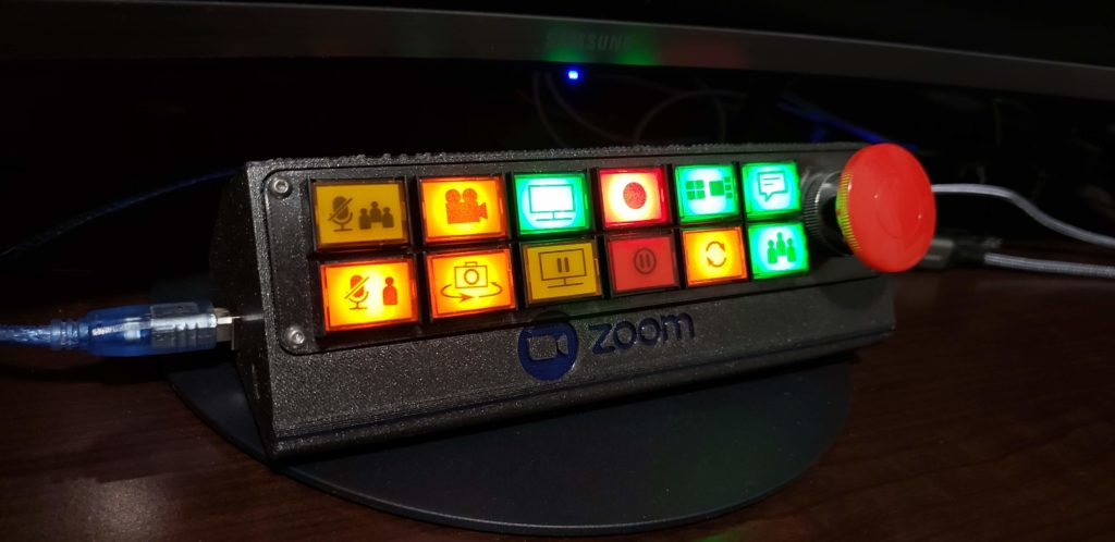 a pushbutton control panel for your zoom calls hyperedge embed