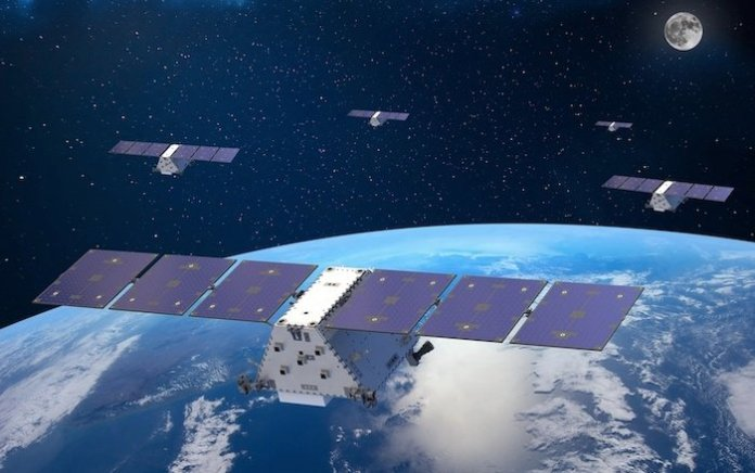 A visual depiction of Lockheed Martin's satellite constellation