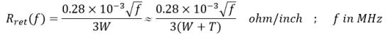 Formula for return signal resistance