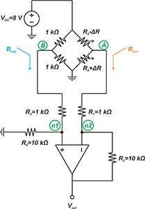 examining the unbalanced loading effect of a difference amplifier on a bridge circuit 4 hyperedge embed image