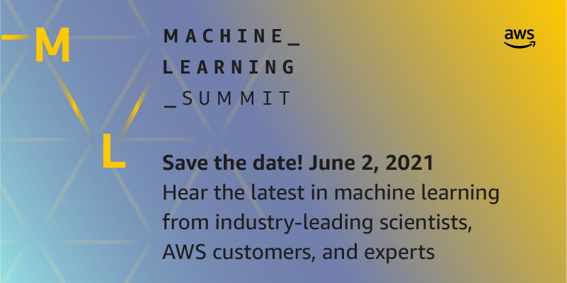 save the date for the aws machine learning summit june 2 2021 hyperedge embed image