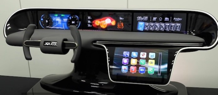 A demo unit for an automotive dashboard.