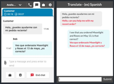 implement live customer service chat with two way translation using amazon connect and amazon translate 7 hyperedge embed image