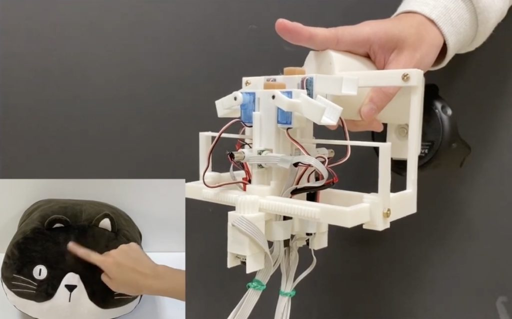 this haptic device lets you feel the hair of virtual reality animals hyperedge embed image