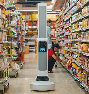 Tally Robot in a store