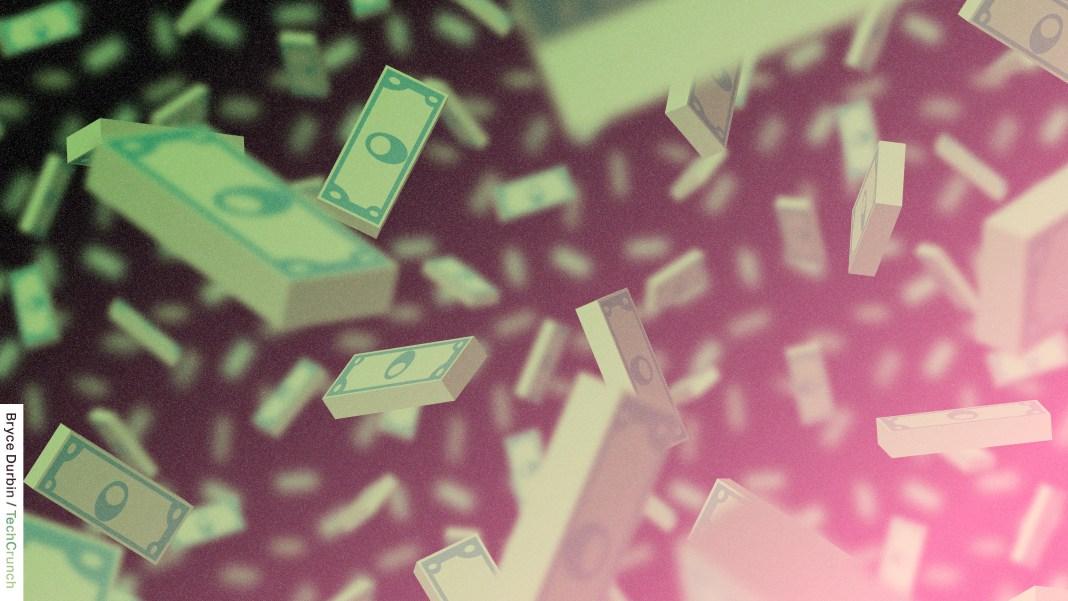 illustration of money raining down