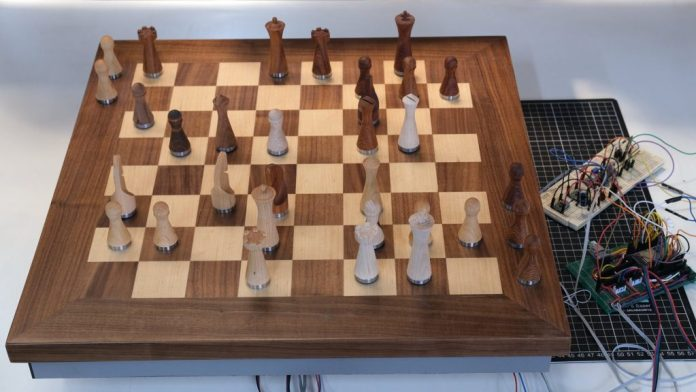 no opponent nearby not a problem this automatic chessboard lets you play others remotely hyperedge embed image