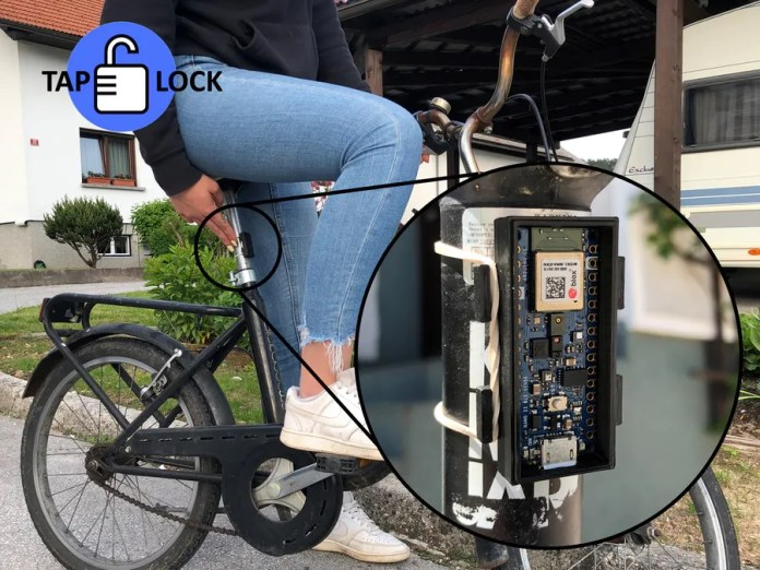 taplock uses tinyml on arduino to protect your bike from thieves hyperedge embed image