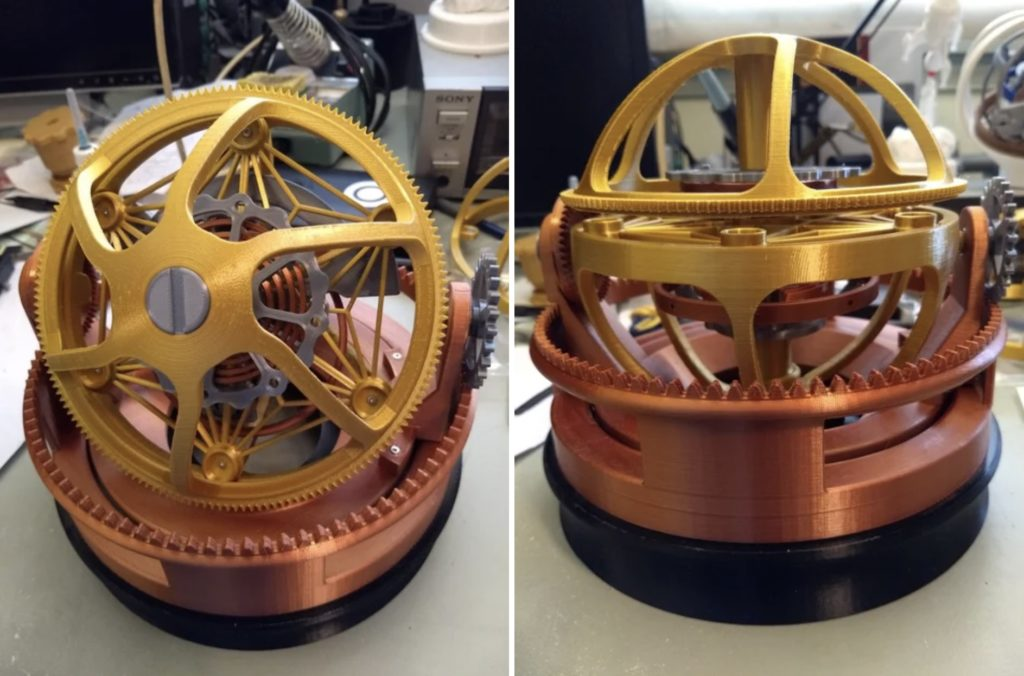 this 3d printed tourbillon was modeled after jacob cos twin turbo furious watch hyperedge embed image