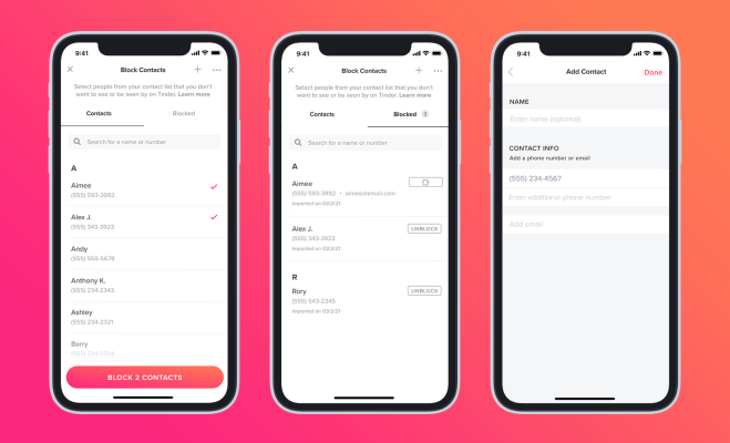 tinder finally adds a block contacts feature hyperedge embed