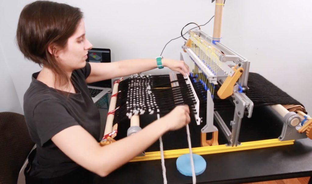 weaving just got a lot better thanks to this arduino controlled jacquard loom hyperedge embed