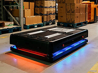 Mobile robot in a warehouse
