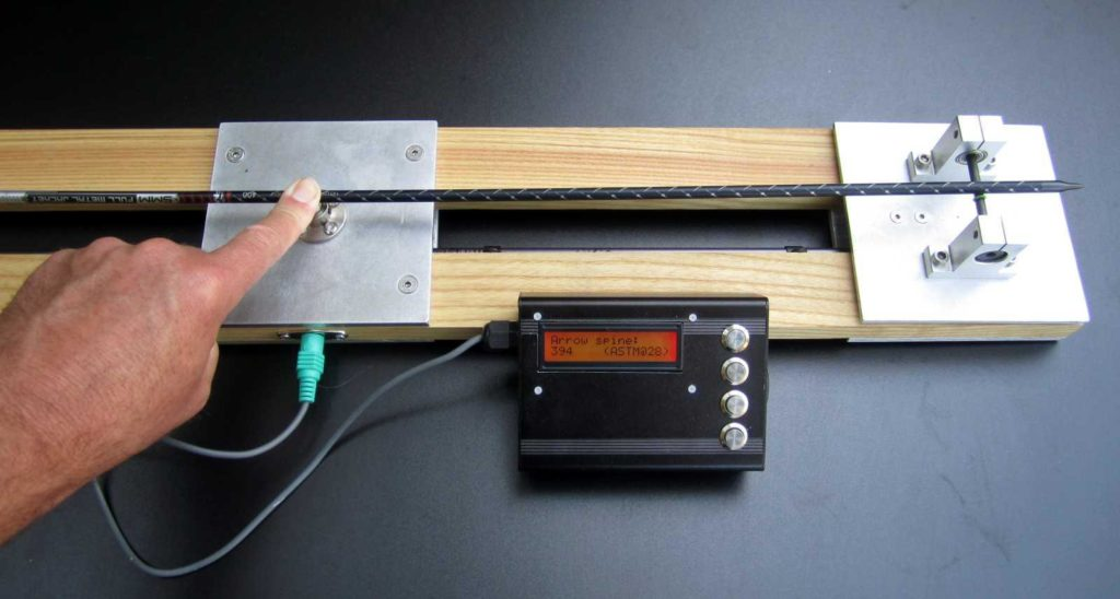 this electronic arrow spine tester measures arrow consistency hyperedge embed