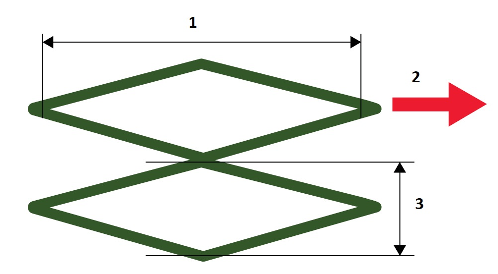 Diamond-shaped cross hatched pattern for differential signaling in flex