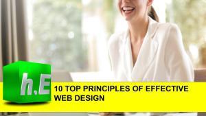 10 TOP PRINCIPLES OF EFFECTIVE WEB DESIGN