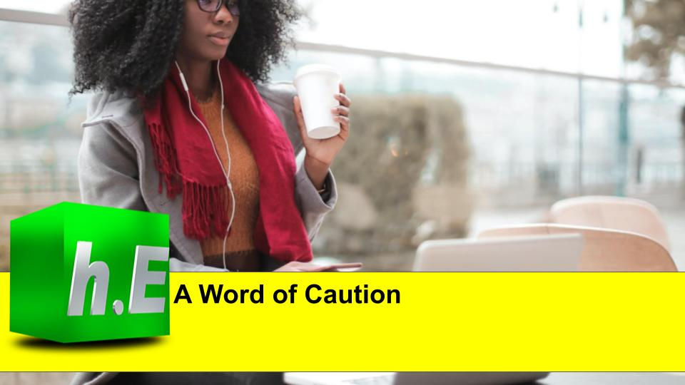 A word of caution