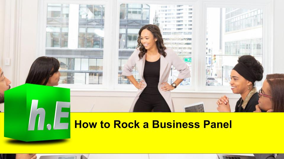 How to Rock a Business Panel