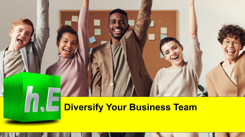 Diversify your business team