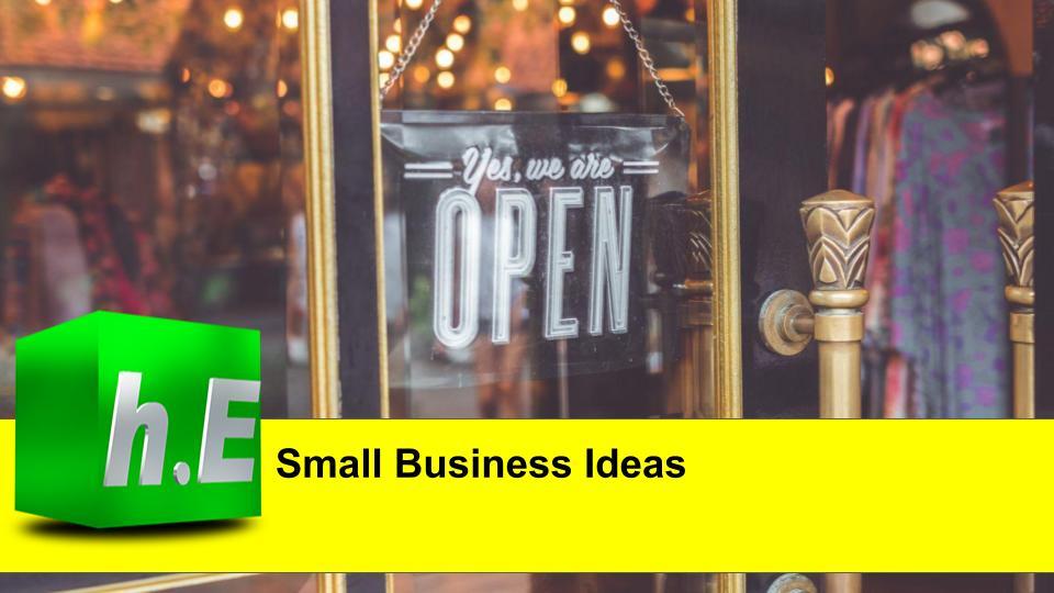 Unique business ideas