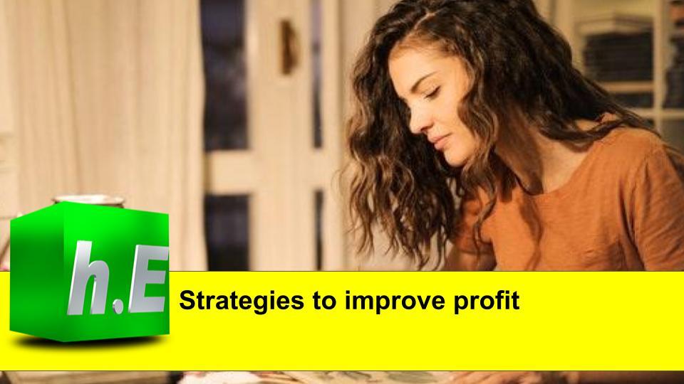 Strategies to improve profit