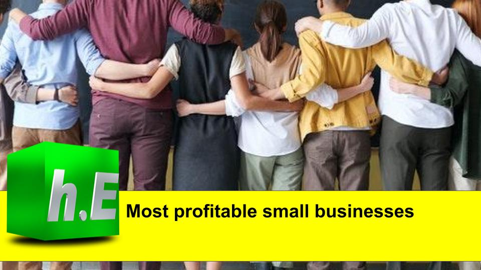 Most profitable small businesses