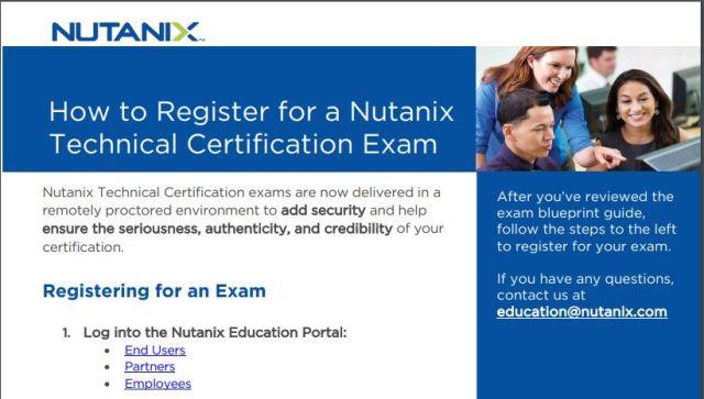 Register for Nutanix Exam