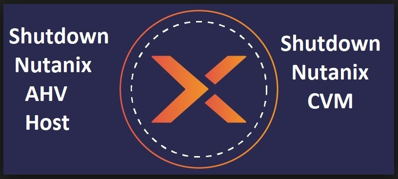 Shutdown Nutanix AHV Host and Nutanix CVM