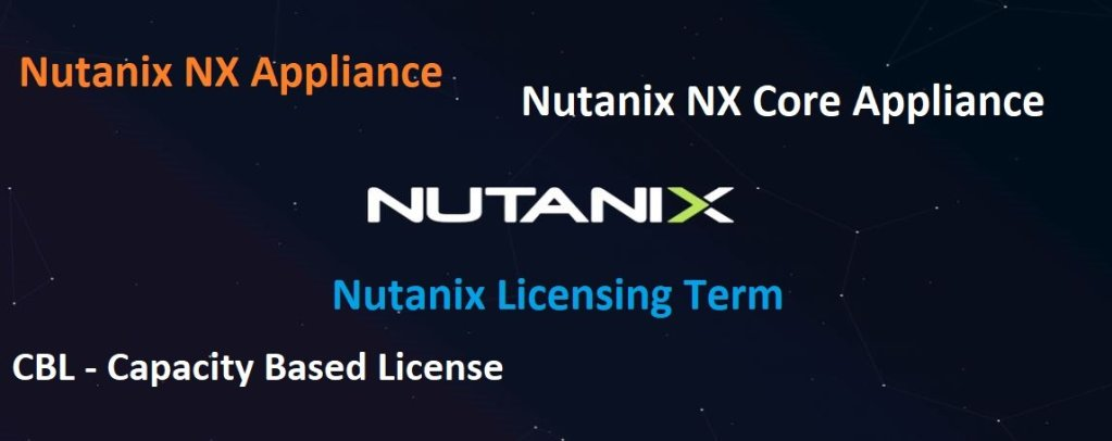 Nutanix NX Core Appliance Licensing Terms