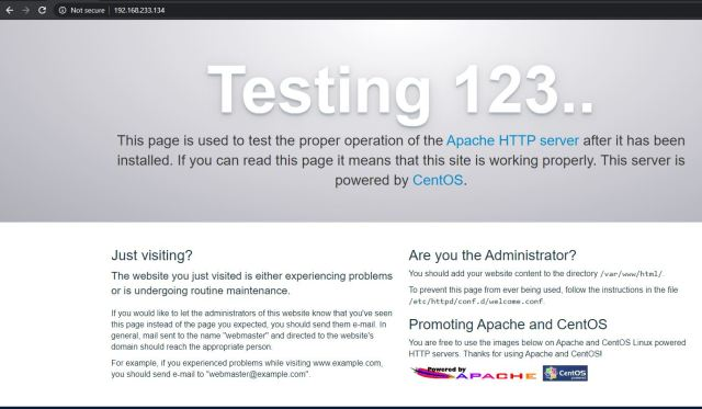 Apache Web Server Test Page