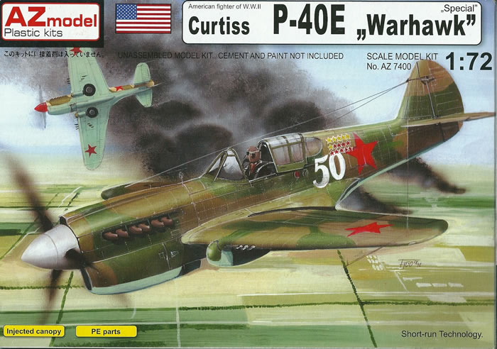 AZ Model 172 Scale P 40E Warhawk Special Review By Mark Davies