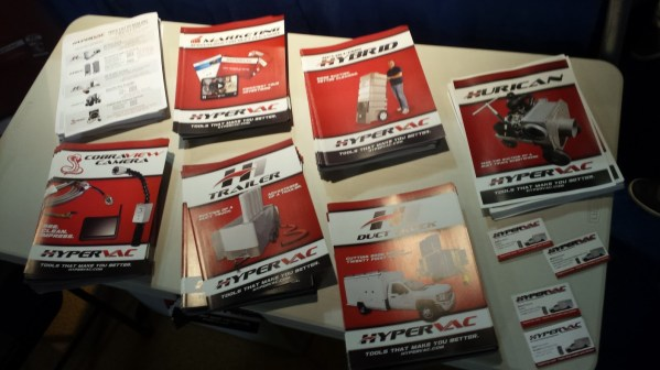 Hypervac brochures at convention booth