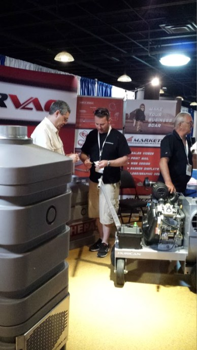 Hypervac employees at duct truck convention