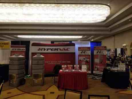 hypervac booth las vegas NADCA convention with revolution hybrid vacuums