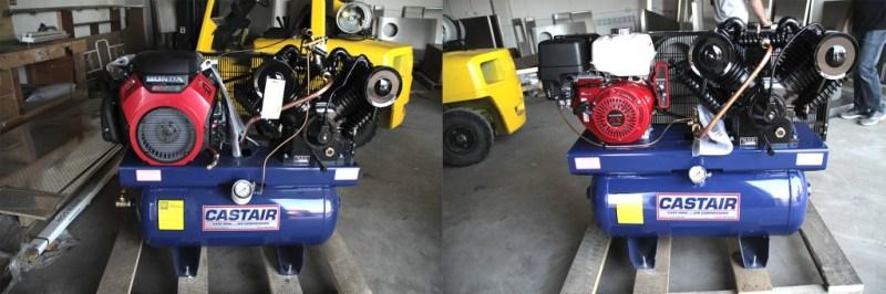 CASTAIR 43 CFM Model on the left, CASTAIR 30 CFM Model on the right.
