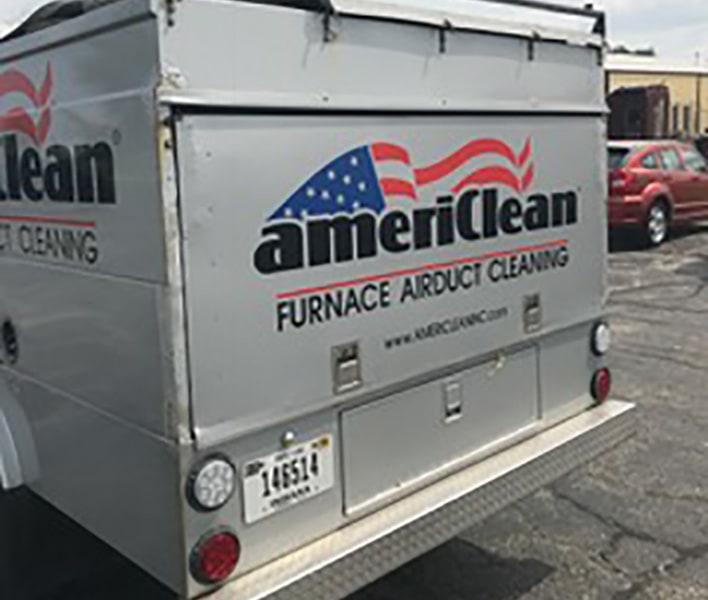 Americlean duct truck  rear bumper view