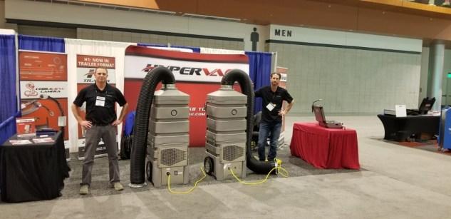 two revolution hybrids vacuum on display NADCA