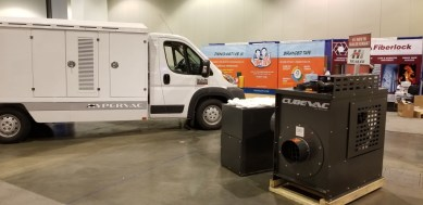 h1 duct truck on display NADCA convention