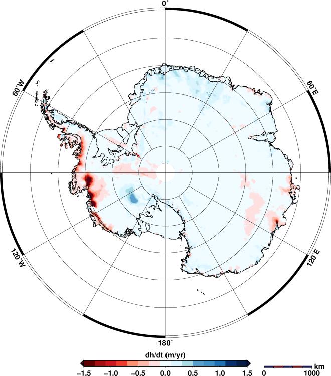 Derretimento de geleiras gravidade da Terra