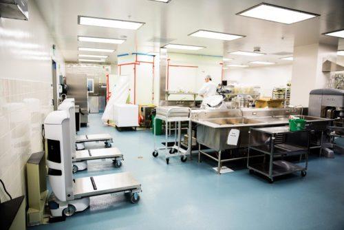 A cozinha robotizada do hospital