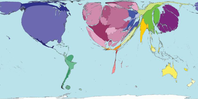 mapa mundo artigos científicos